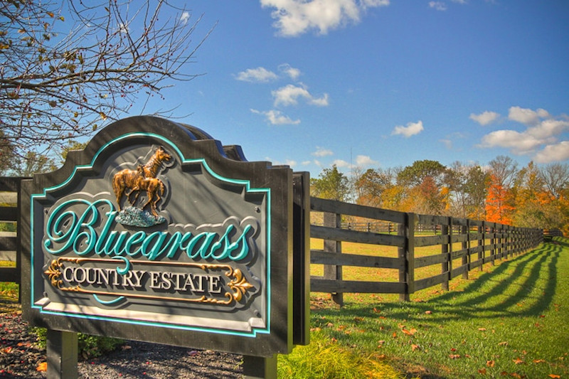 Entrance to Bluegrass Country Estate