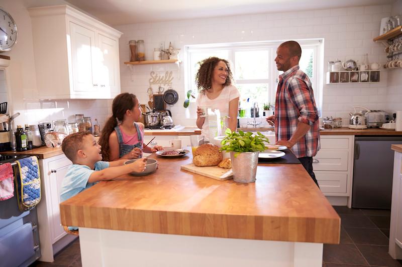 Family enjoying a vacation home rental