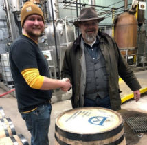 Bourbon Master Distiller Jade Peterson with author Mike Veach