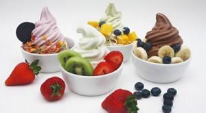 Delicious yogurt selection