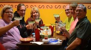 Group eating a Gustavos in La Grange KY