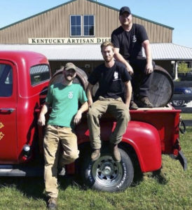 Guys hanging out in front of Kentucky Artisan Distillery