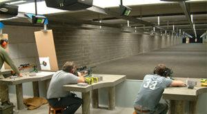Man shooting gun at Openrange Shooting Range
